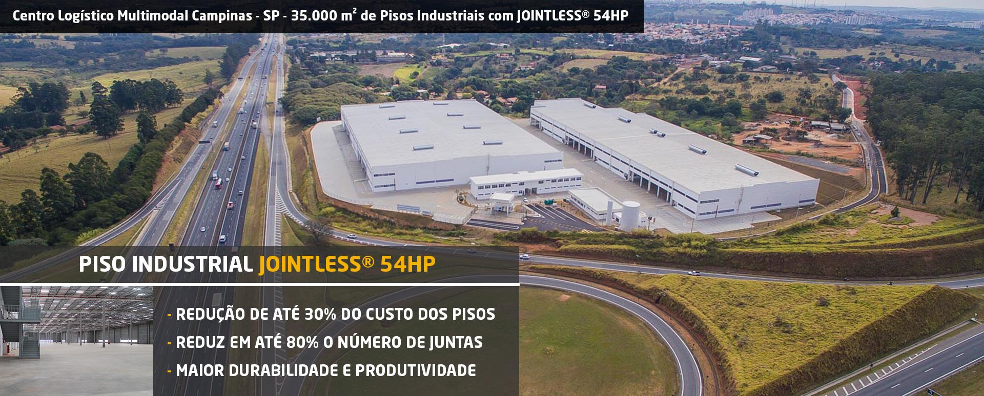 Piso Industrial Sem Juntas com JOINTLESS 54 HP