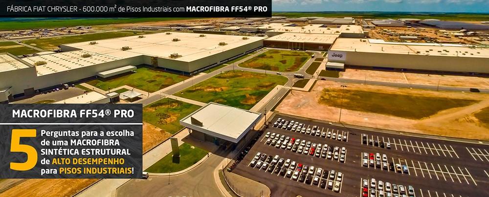 Fábrica Fiat Chrysler 600.000 m² pisos com a Macrofibra FF54 PRO